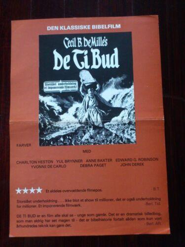 "Danish Press Release.Cecil B.De Mille.""The Ten Commandments"".1959"