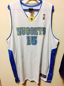Authentic Carmelo Anthony Reebok Nuggets jersey