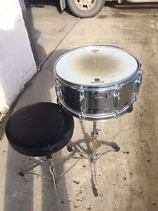 Pearl snare ,stand and peavey stool. Dusty but decent. $50.00