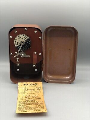 Vintage Reliance Manual Time Switch Type 22 Series 517