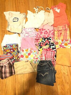 Lot 19 Girls Clothes Spring Summer Shorts 7 8  Top Outfit Gymboree Abercrombie