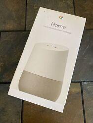 Google Home Smart Assistant Speaker - White/Slate **NEW / FREE SHIPPING**