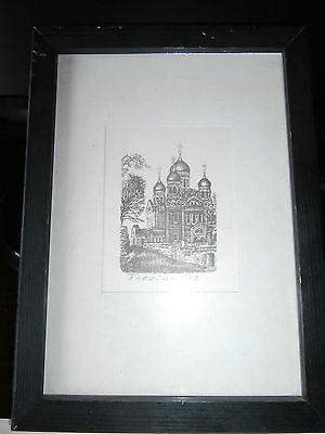 Bild/ Druck  gerahmt /Tallinn 1998/Kloster