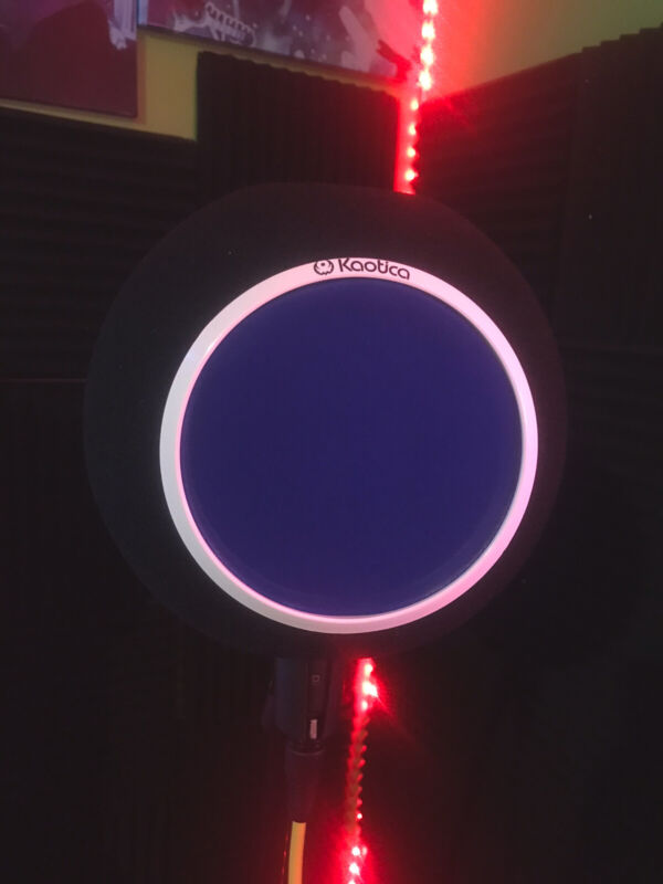 Custom Kaotica Eye Ball Mic Shield / Built In Color Changing Led Light (BLUE)