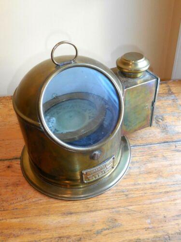 Original British Lifeboat Compass by Bergen Brass  Petroleum Burner ,dated 1949