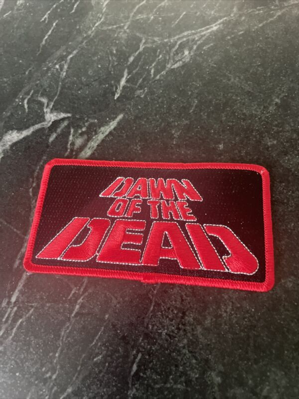 """Dawn Of The Dead Horror Movie Logo Rare 4"""" Iron On Patch Trucker Hat Zombie Vtg"""