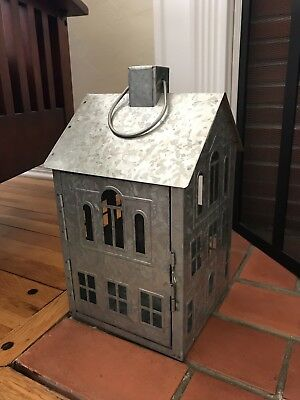 galvanized metal house lantern - 300×400