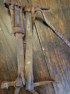 Patent 1931 1789332 Buckingham Co 17-12 Steel Pole Tree Climbing Spurs Gaffs
