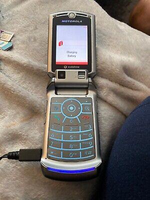 Motorola RAZR V3x - Silver & Grey (Vodafone Network) Flip Mobile Phone