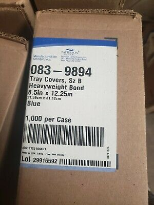 Dental Paper Tray Cover Size B 12.25 X 8.5 - Blue 1case 1000 Pcs