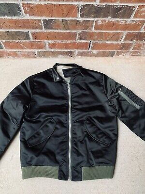 Harmony Paris Black Maxwell Bomber Jacket 44/ XS Made In France New Authentic