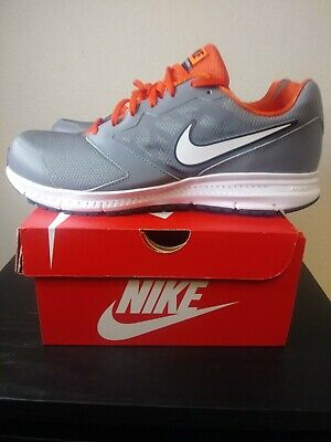 Nike Downshifter 6 Gray Orange White Running Shoe Mens Size 11.5