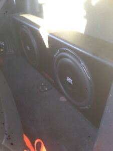 Mtx duel 10in subwoofers and amp