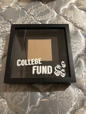 Black Keepsake Frame Shadow Money Graduation covid 19 (Graduation Shadow Box coronavirus)