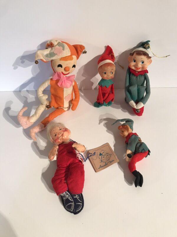 Vintage Christmas Elves Elf Kneehugger Pixie Annalee Santa