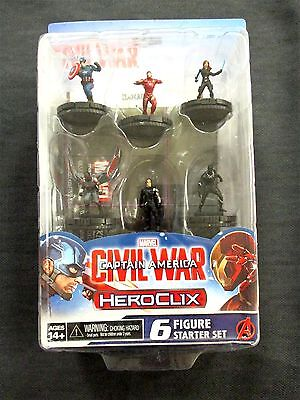 OEJ ~ Marvel Heroclix ~ Captain America Civil War Movie ~ Starter Set