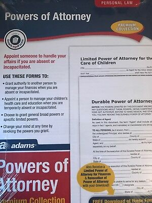 Power Of Attorney Form Legal Document Forms And Blanks Free Shipping