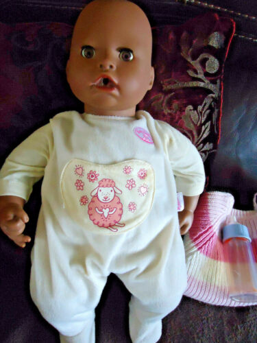 "Baby Annabell 18"" Doll Interactive Animated Turns Head, Cries, Blinks, 2007 Zapf"