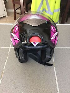 Two motorcycle helmets!! One Modular and one open face.