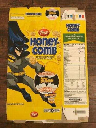 "2005 Vintage (Post) ""HONEY COMB"" (The Batman Training Academy) Cereal Box, RARE!"