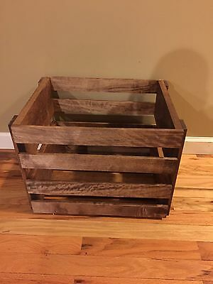 LP Holder Storage Wood Crate