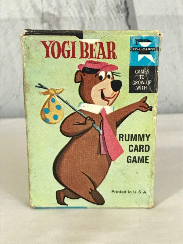 Ed-u-cards YOGI BEAR Rummy Card Game in Box 1961