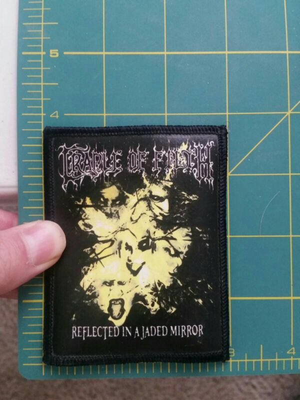 """Vintage Cradle Of Filth Reflected In A Jaded Mirror patch 3"""" x 3.75"""""""