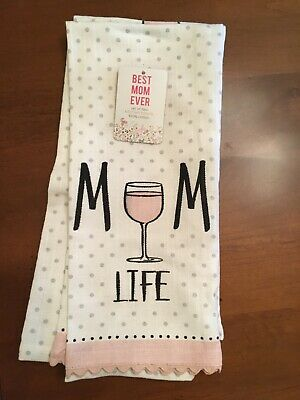 Best Mom Ever 2 Kitchen Tea Towels Mom Life  Nice for New (Best Towel For Kitchens)