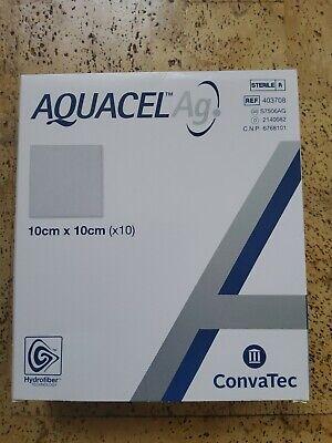 Aquacel Ag. Hydrofiber Dressing with Silver Convatec 10x10 cm 1 box x10 pieces
