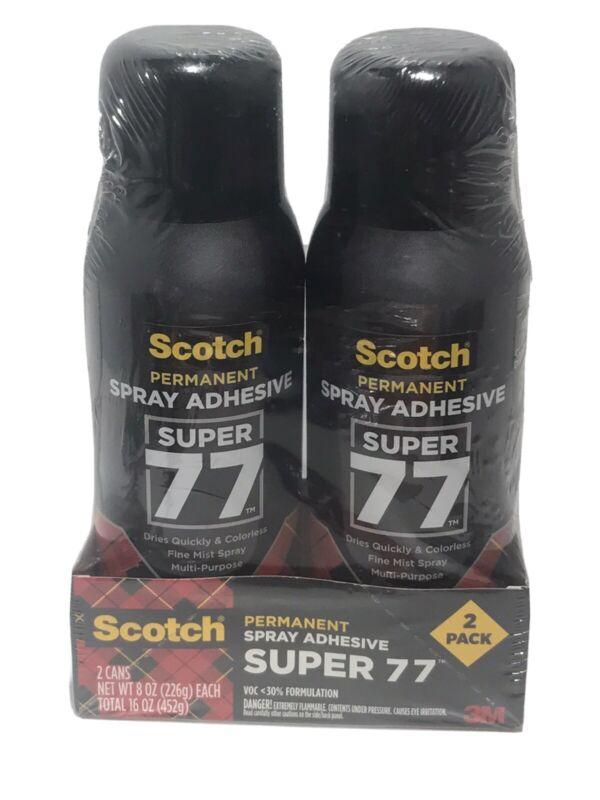 Scotch 3M Super 77 Spray Adhesive 2Pack