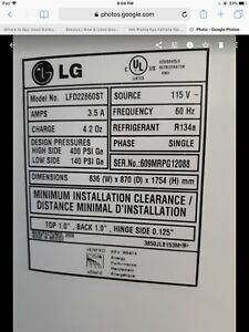 LG fridge for sale ..as is