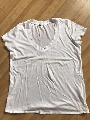 James Perse white t-shirt - size 3 (size 10/12)