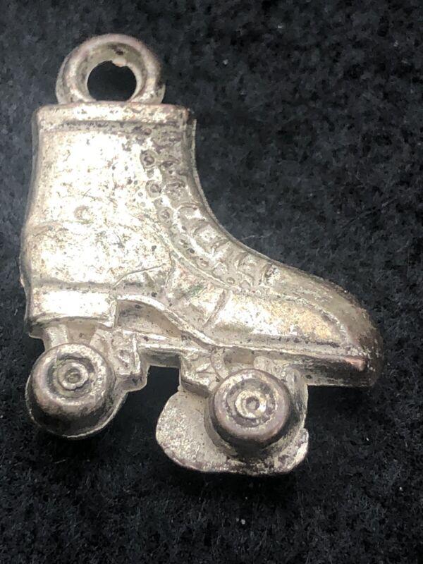 Cracker Jacks Silver Skate Vintage Charm