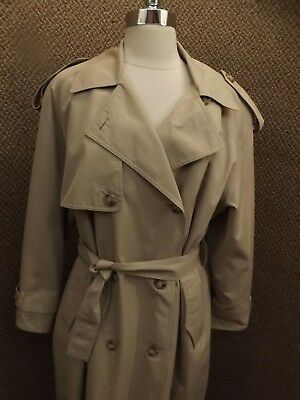 Spy Trenchcoat (London Fog Vtg Brown Cotton Spy Trench Coat w/ Zip Out Blanket Liner Womens 10 P)