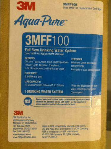 3M Aqua-Pure Under Sink Water Filtration System - Model 3MFF