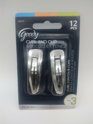 Goody Curl Contour Clips, 12 Count