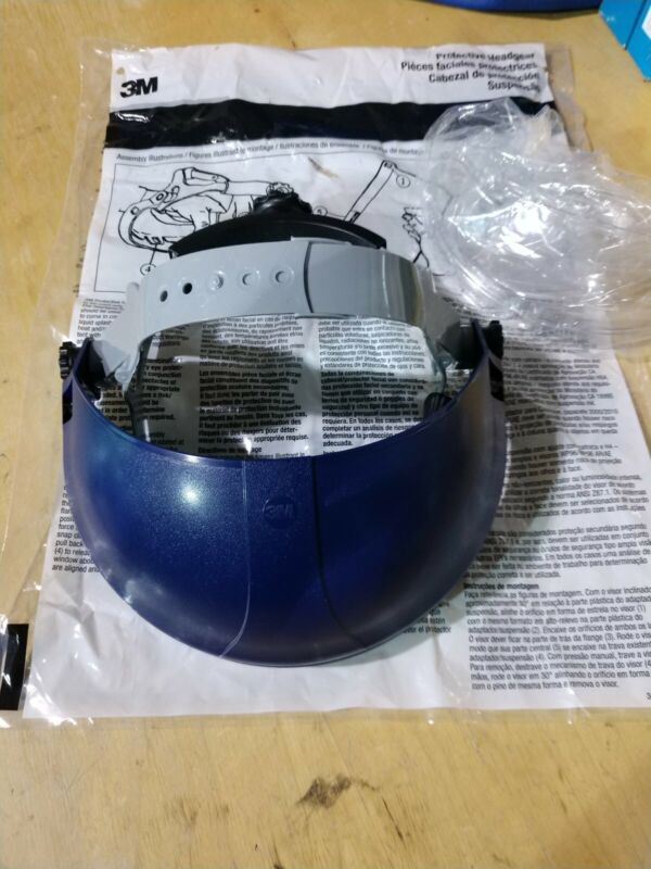 (3) 3M RATCHET Headgear with Chin Protectors 82521-1000 HCP8