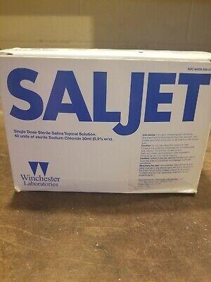 Saljet Single Dose Sterile Saline Topical Solution Sodium Chloride - 40 Units