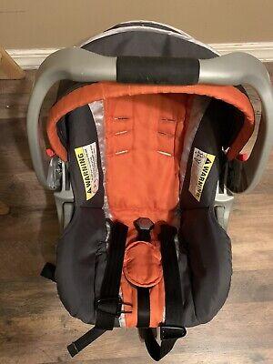 Baby Trend Ez Loc Infant Car Seat Cover Cushion Canopy Part Set Gray Orange