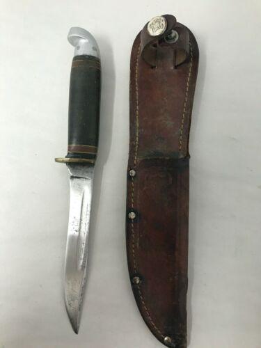 Original Vintage Western Boulder Colorado USA OFFICIAL Boy Scout Sheath Knife