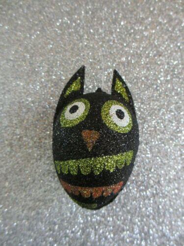 Pier 1 One Imports Halloween Owl Glitter Ornament black