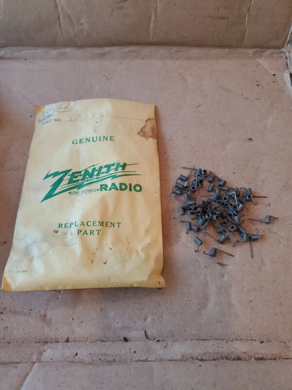 NOS Vintage Zenith Tube Radio parts new old stock spring CLIPS 80-828