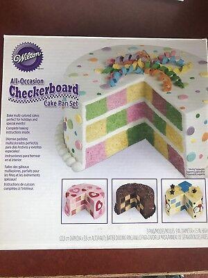Wilton Checkerboard Cake Pan Set Christmas Birthday Halloween Easter!!](Halloween Checkerboard Cake)