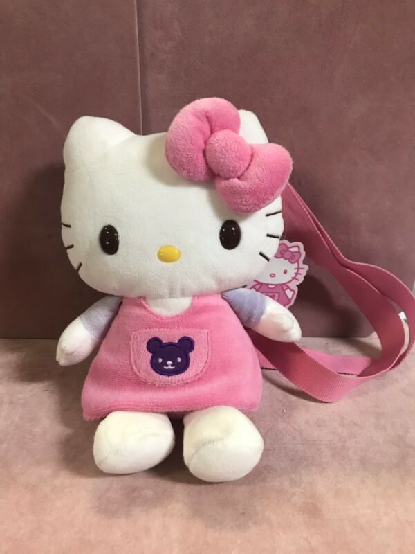 Hello Kitty Plush Backback Purse