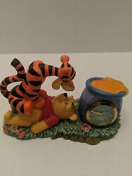 Walt Disney Tigger and Winnie The Pooh Figurine Desk Clock Fantasma
