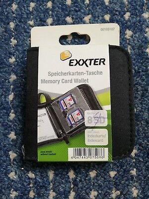 SD Speicherkarten Etui Tasche Schwarz Case Box Hülle Speicher für 8 Karten SD
