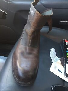 Size 13 leather Chelsea boots bran new
