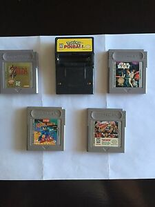 Gameboy: Zelda, Star Wars, Pokemon pinball