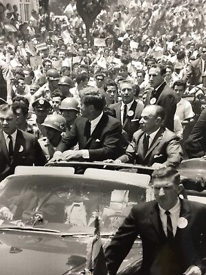 Vintage President John F. Kennedy In Costa Rica Original Press Photo F3