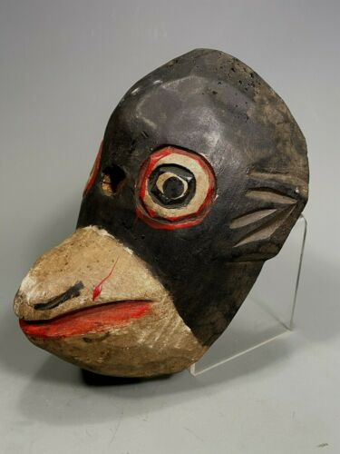 Guatemala Guatemalan Carved Polychrome Wood Monkey Mico Mono mask ca. 20th c.